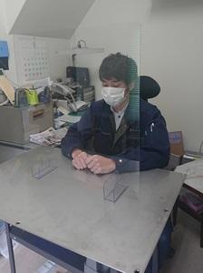 飛沫防止透明パーテーション