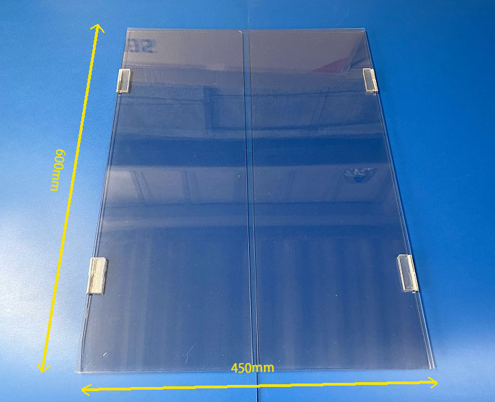 折畳みが可能なので飛沫防止パーテーションを使用しない場合も省スペース化できます。
